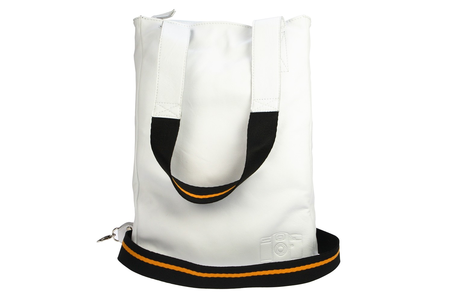 Lomofolio Bag White with Orange Strap