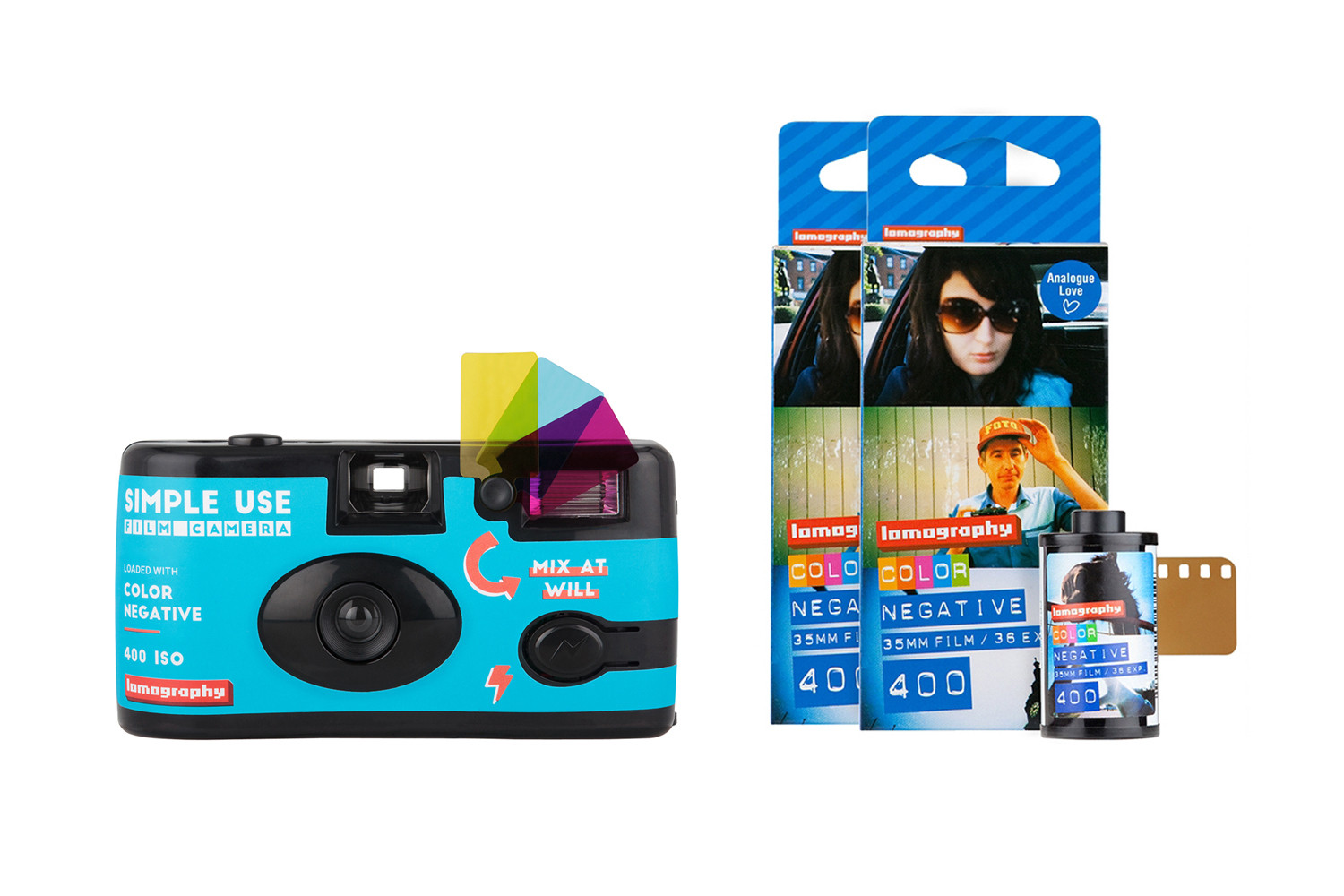 Simple Use Film Camera Reload Kit Color Negative