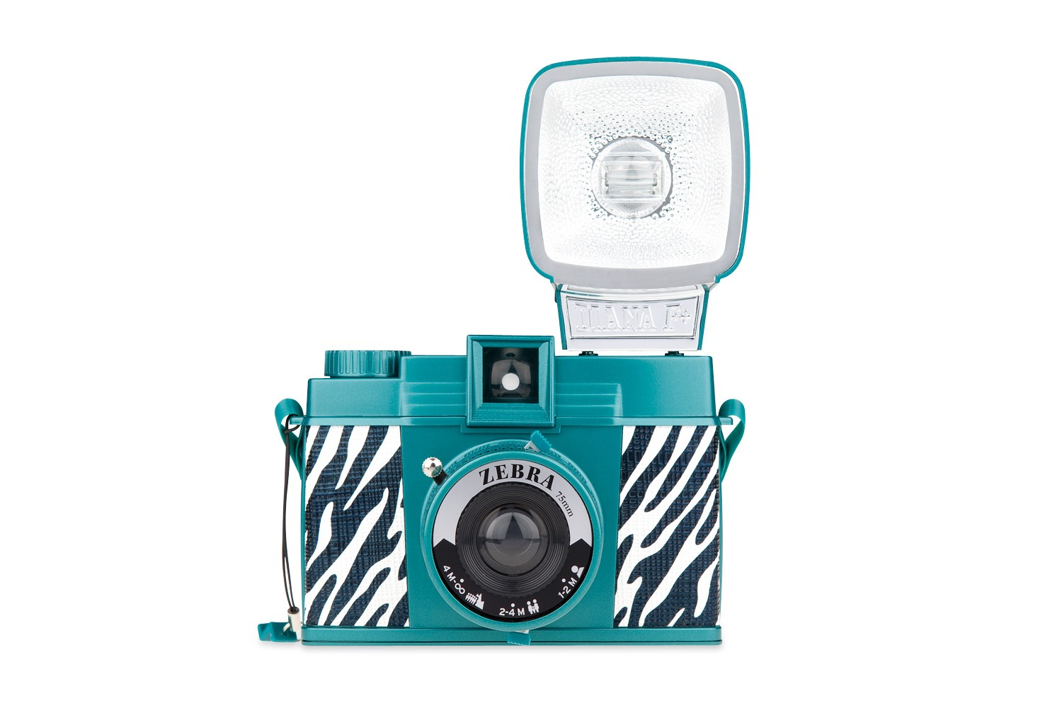 Diana F+ Camera and Flash (Zebra Edition)