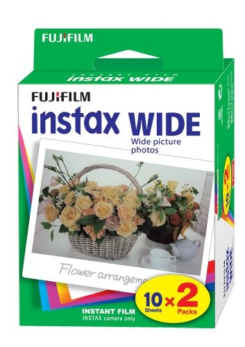Fuji Instax Wide Film Double Pack (20 Photos instantanées)