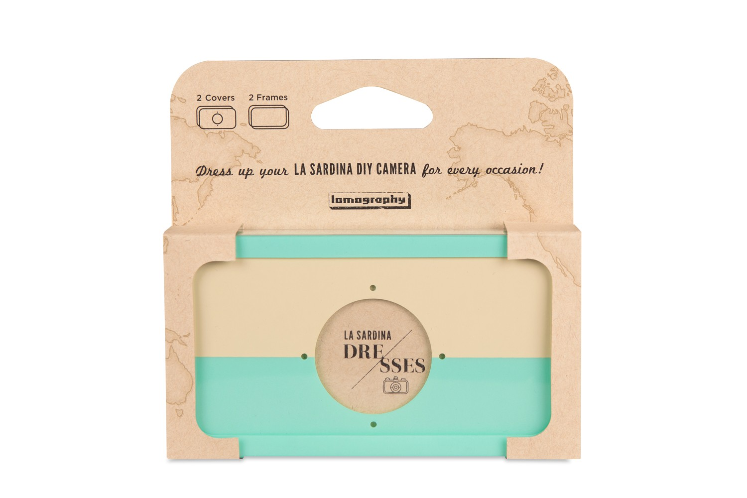 La Sardina Dress Sand and Seafoam