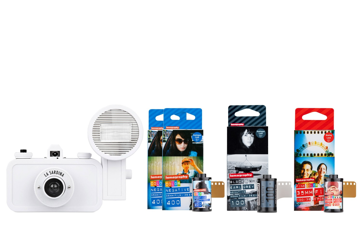 La Sardina Camera and Flash DIY Film Bundle