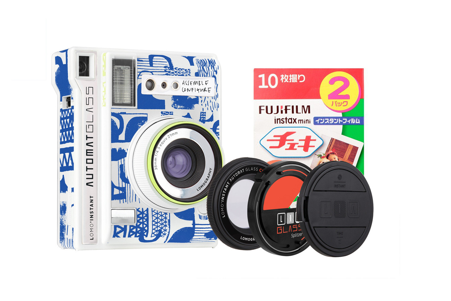 Lomo'Instant Automat Glass (Assemble Configure Edition) + Fujifilm Instax Film Double Pack Bundle
