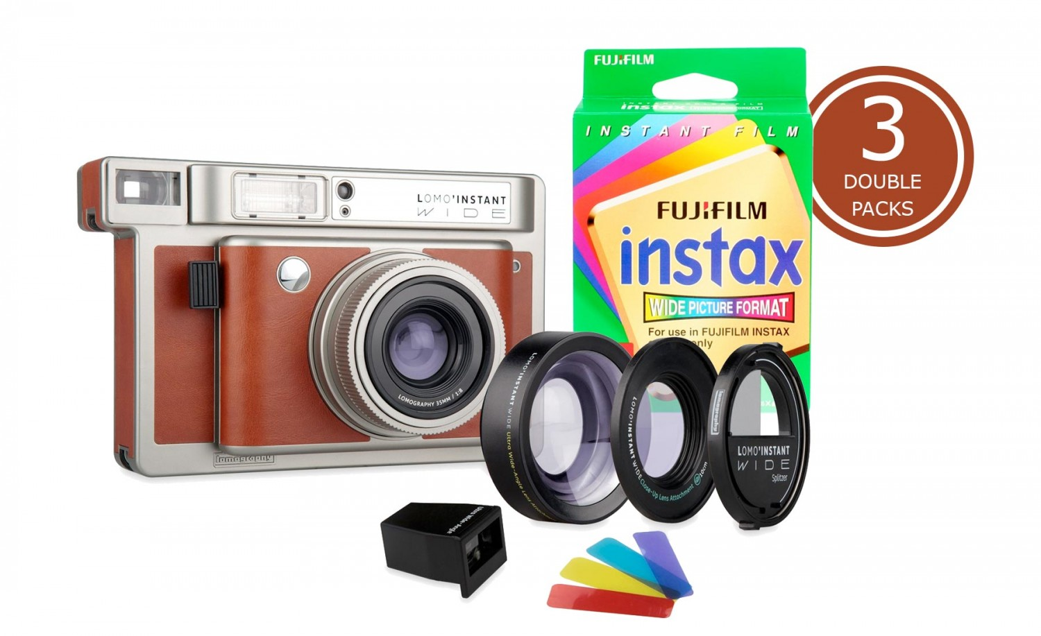 Lomo'Instant Wide and 3x Fujifilm Instax Wide Double Pack Film (Central Park Edition)