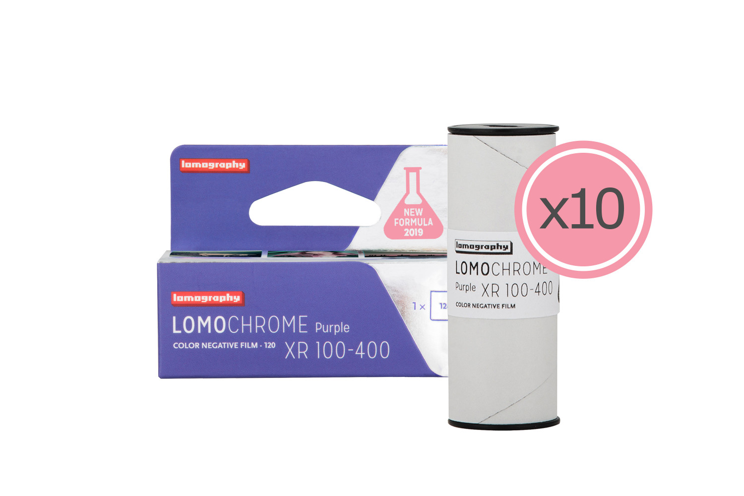 New Lomography LomoChrome Purple 120 Pack de 10