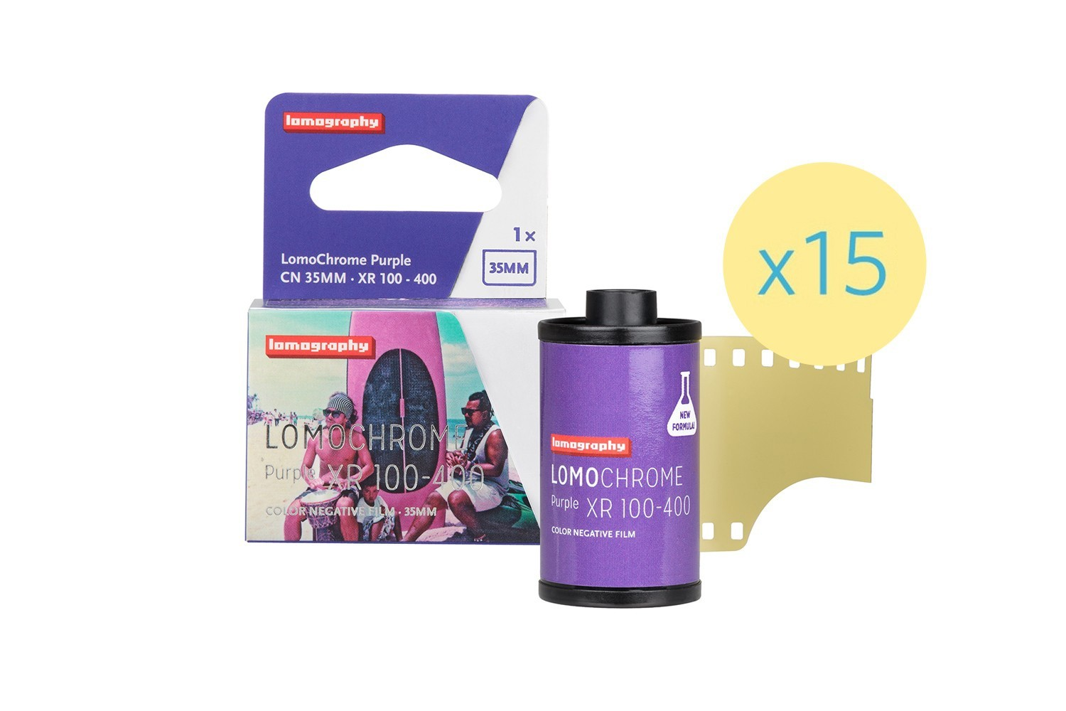Nueva Lomochrome Purple 35 mm 2019 Pack de 15 - Reserva