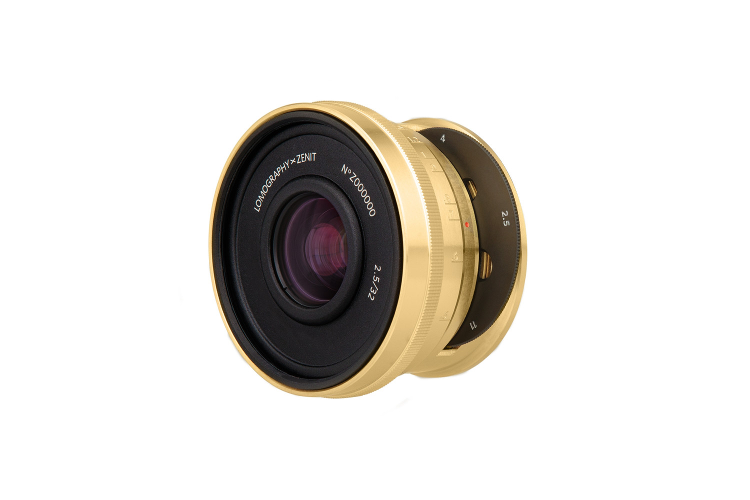 Lomogon 2.5/32 Art Lens Brass - Nikon F Mount - Low Serial Number