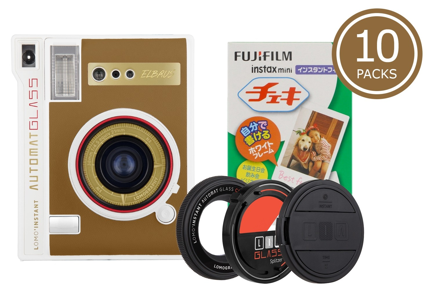 Lomo'Instant Automat Glass and 10x Fujifilm Instax Mini Film (Elbrus Edition)