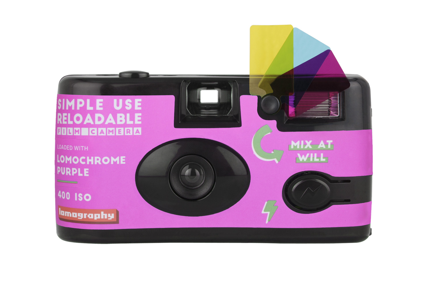 Simple Use Reusable Film Camera Lomochrome Purple