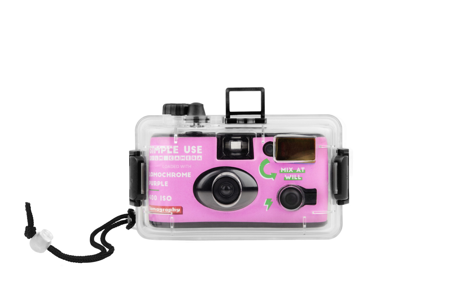 Analogue Aqua - Simple Use Reloadable Camera & Underwater Case LomoChrome Purple