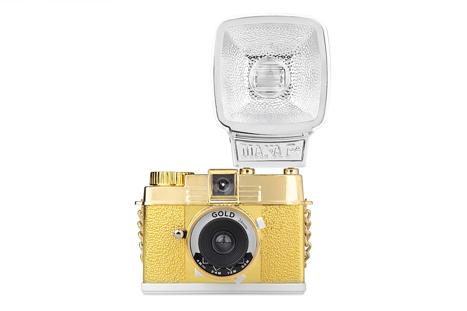 Diana Mini Camera and Flash (Gold Edition)