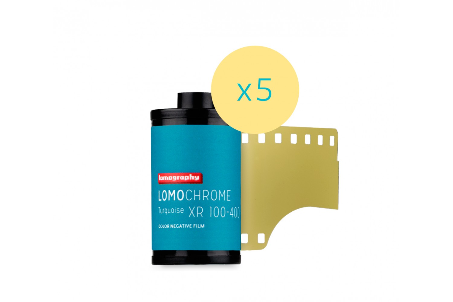 Lomography LomoChrome Turquoise XR 100-400 35mm Pack of 5