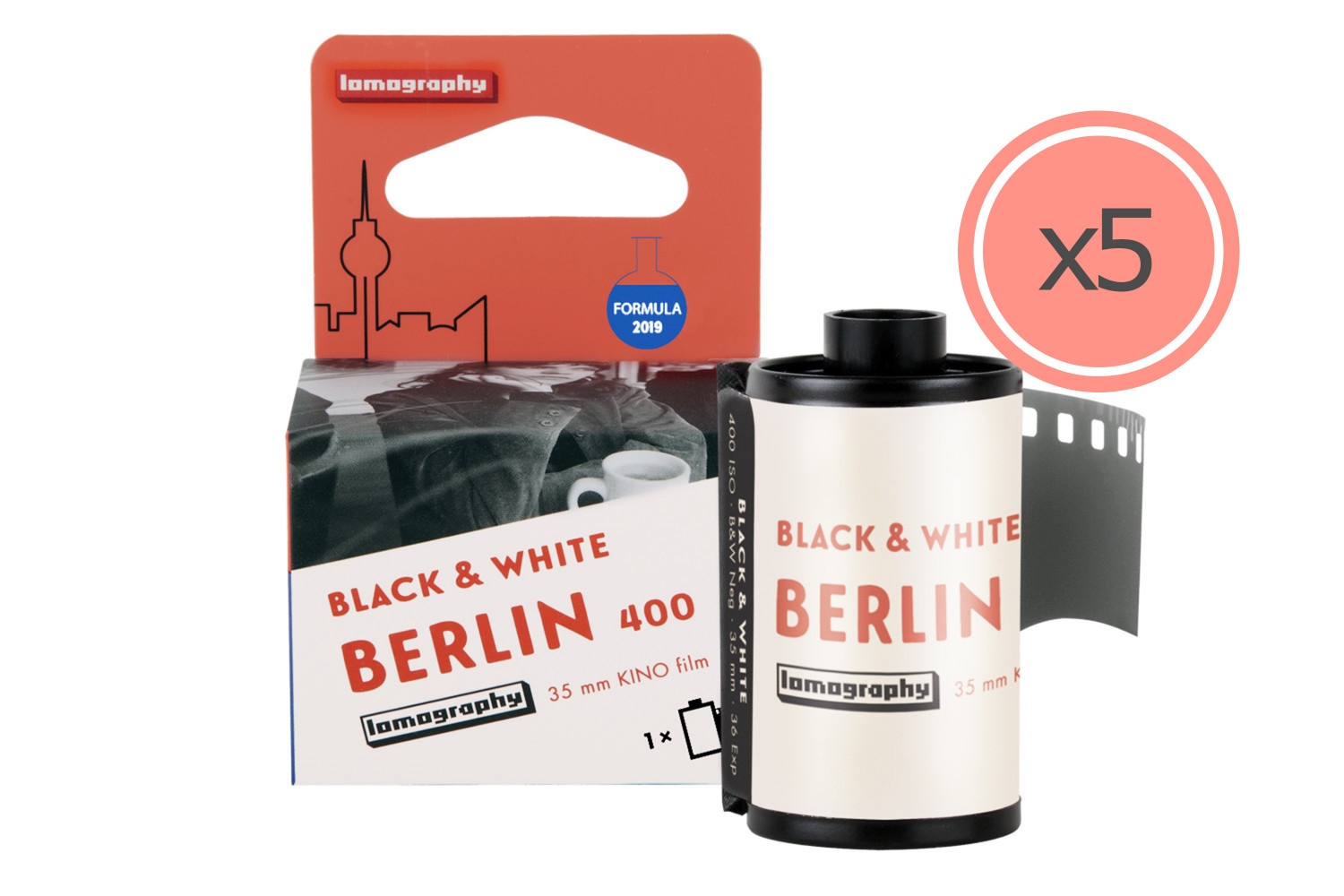 Berlin Kino B&W 35 mm ISO 400 2019 Edition - 5 rolls