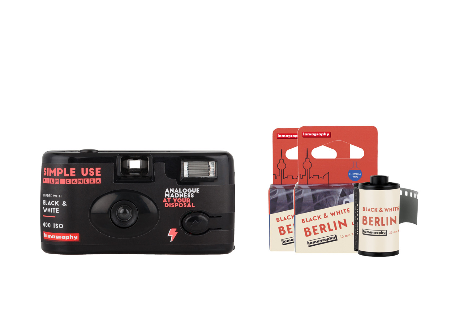 Simple Use Film Camera Reload Kit B&W