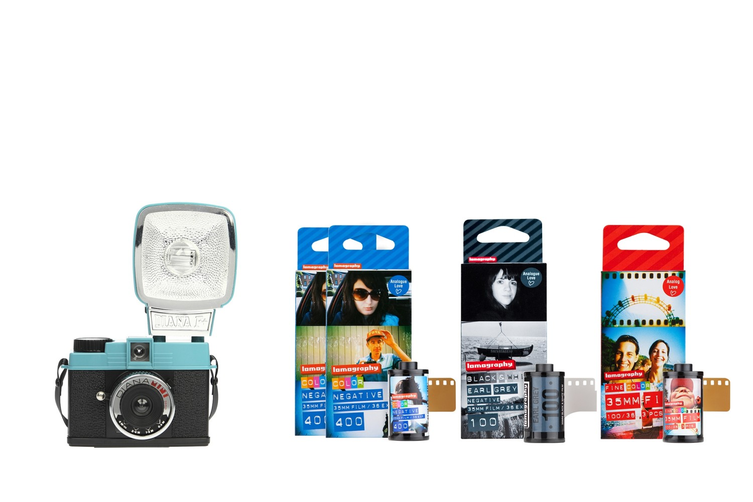 Diana Mini with Flash and Film Bundle