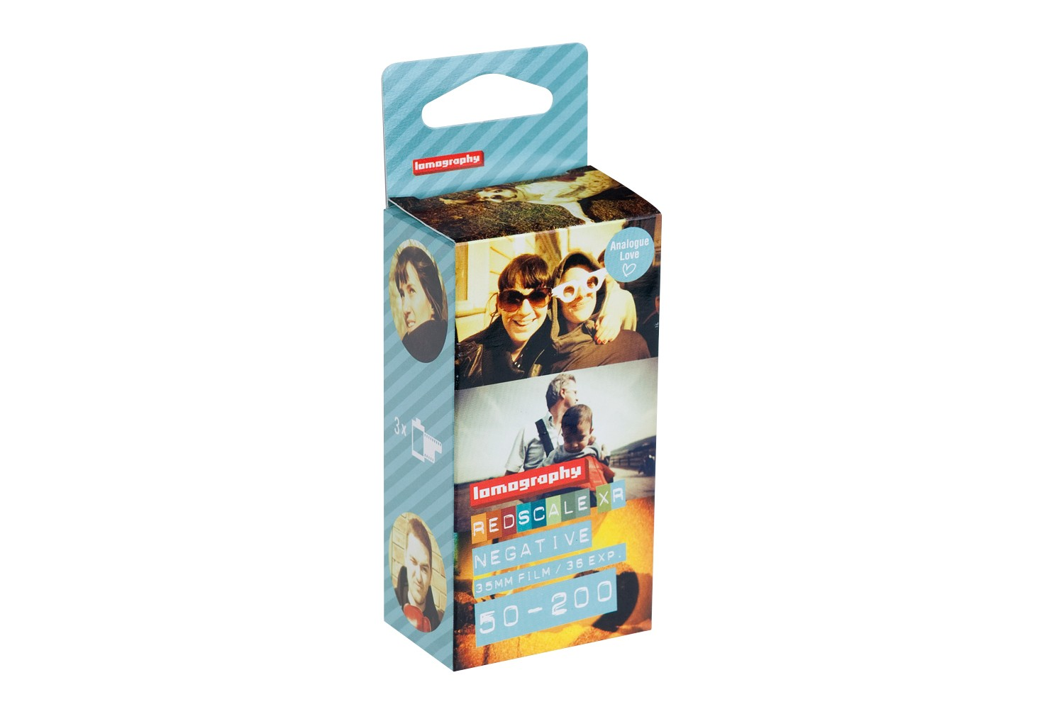 Lomography Redscale XR 50 200 35mm Pack de 3