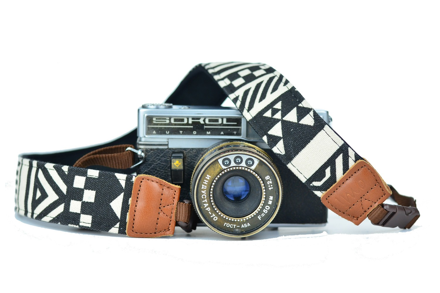 iMo Geometric Black Camera Strap