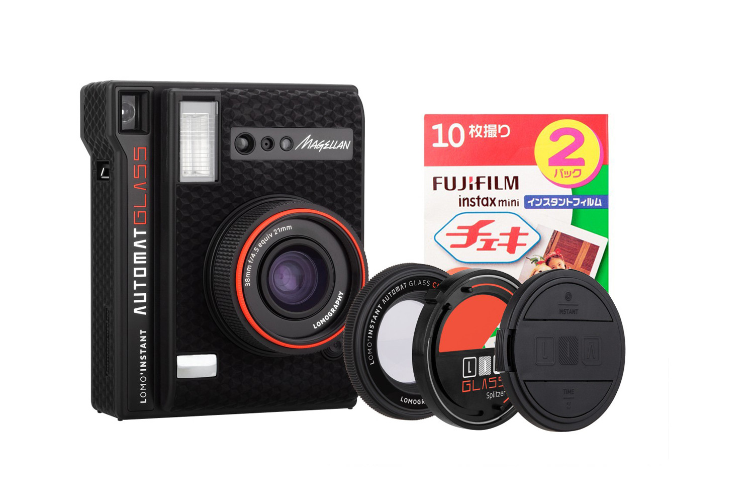 Lomo'Instant Automat Glass (Magellan Edition) + Fujifilm Instax Film Double Pack Bundle