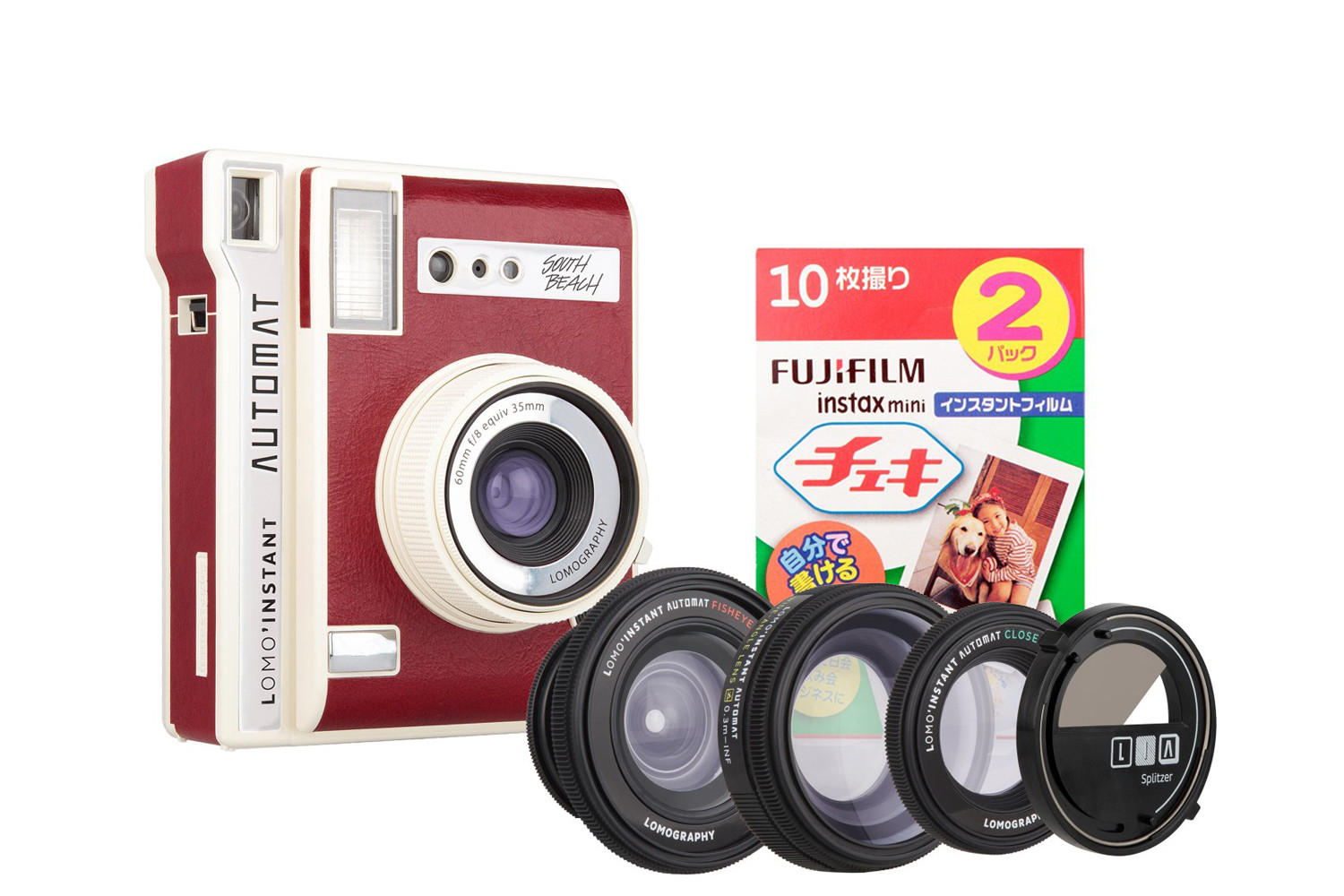 Lomo'Instant Automat Camera and Lenses (South Beach Edition) + Fujifilm Instax Film Double Pack Bundle