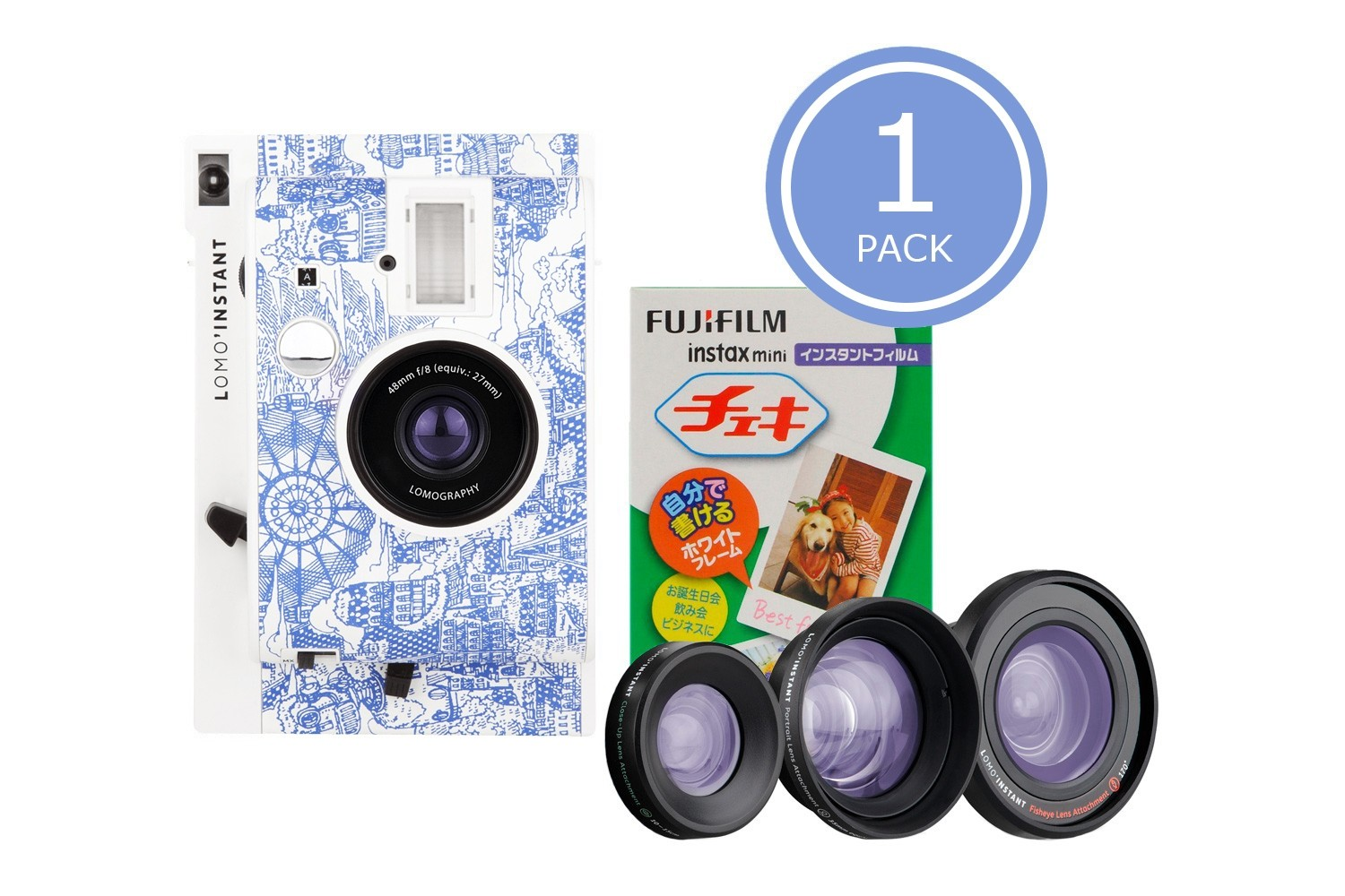 Lomo'Instant Camera and Lenses (Explorer Edition) & 1x Fujifilm Instax Mini Film