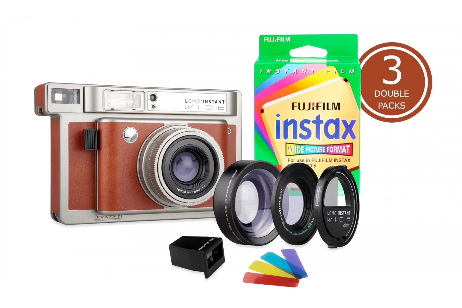 Lomo'Instant Wide Central Park & 3x Fuji Instax Wide Double Pack