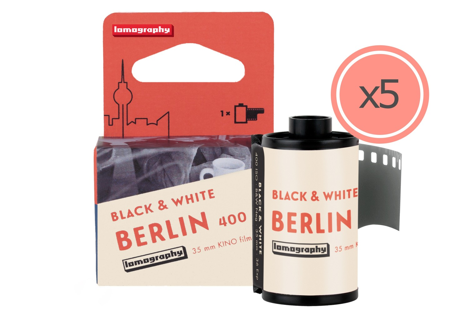 B&W 400 35 mm Berlin Kino Film Bundle of 5 - Preorder