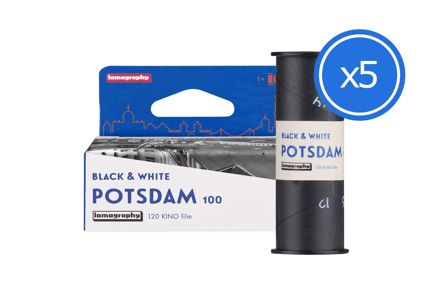 Lomography B&W 100/120 Potsdam Kino Film Bundle of 5