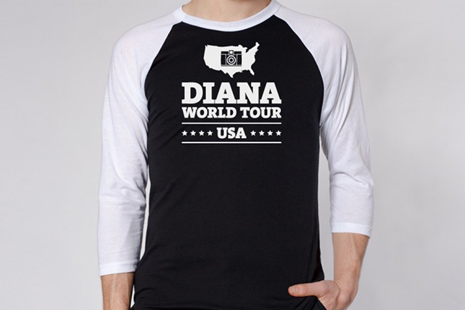 Lomography Diana World Tour Raglan Shirt
