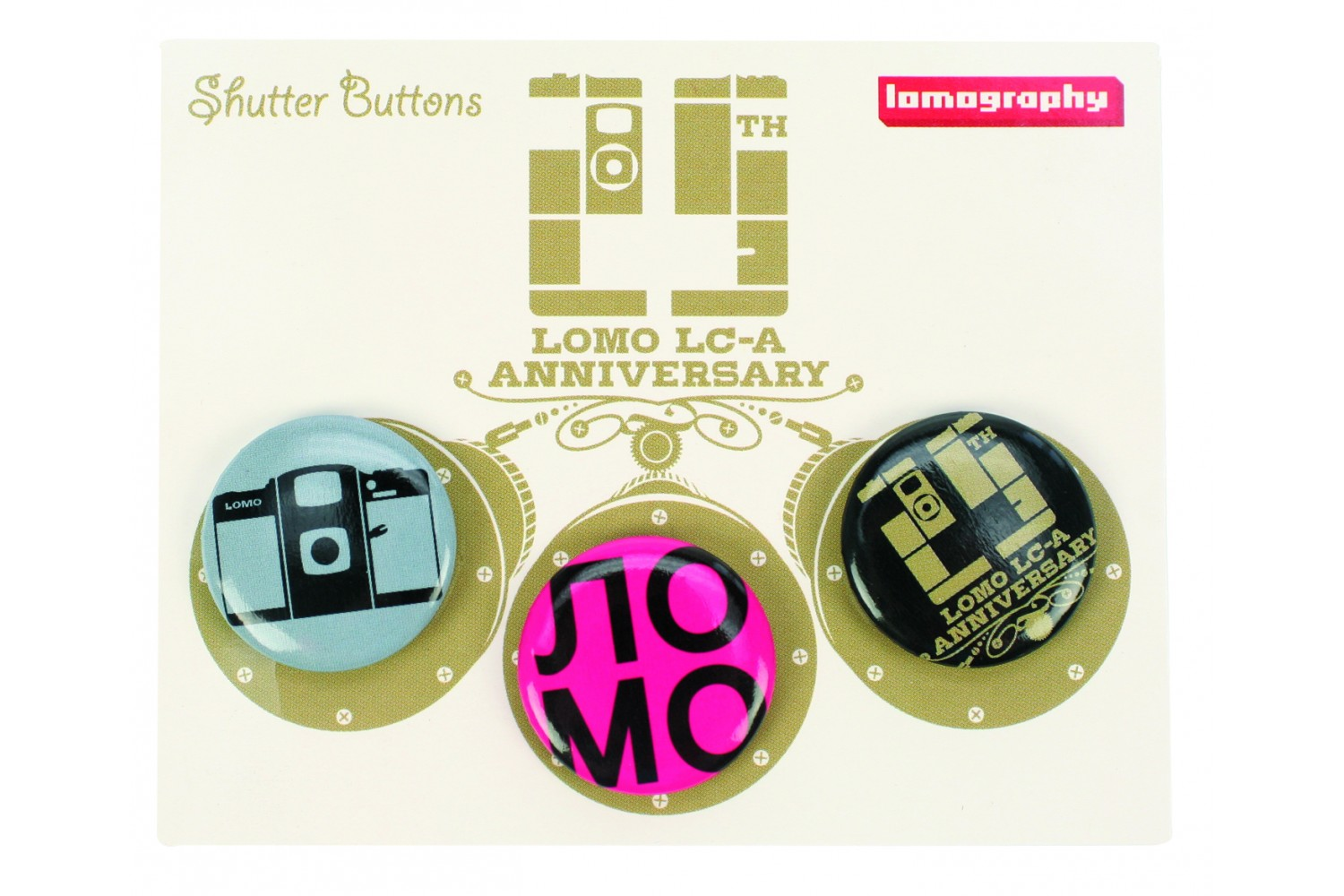 Значки LC-A Anniversary Shutter Buttons - Set of 3