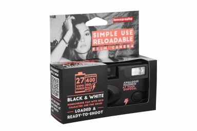 Simple Use Reusable Film Camera Black and White