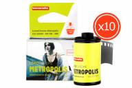LomoChrome Metropolis 35 mm ISO 100-400 pack de 10