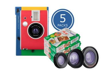 Lomo'Instant Murano + Objectifs & 5 x Fuji Instax Mini Film