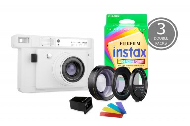 Lomo'Instant Wide White & 3x Fuji Instax Wide Double Pack Film