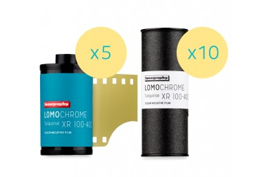Lomography LomoChrome Turquoise XR 100-400 Mixed Formats 15 Rolls - 120